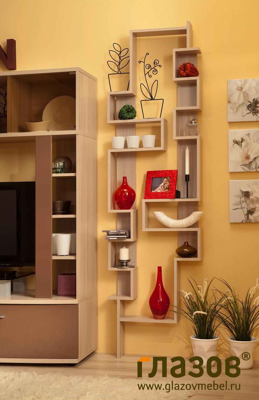 Гостиная 3. модульная серия berlin. глазовская мебельная фаб.