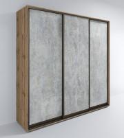 Шкаф-купе ЛОФТ-Сим Д 3-х дверный цемент