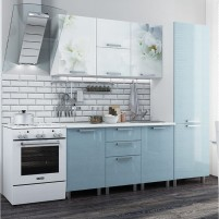 Бьянка Кухня 2,1 м. голубая
