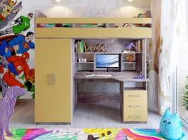 Кровать Аракс бетон-зира