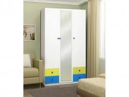 Радуга Шкаф 3-х дверный с ящиками и зеркалом