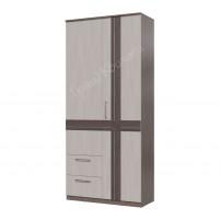 Презент Шкаф 2-х дверный с ящиками