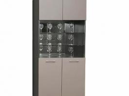 Калипсо Ш2 шкаф 2-х створчатый со стеклянными дверцами глянец