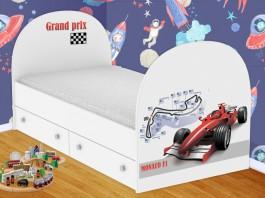 Формула-1 Кроватка с ящиками
