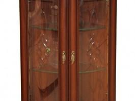 Милан 5-01 Шкаф для посуды угловой стеклянный