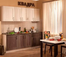 Кухня КВАДРА 2200 метабокс, без плинтуса, без доводчиков