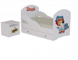 Кровать Скейт с тумбой