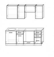 Кухня Акцент-Лофт-1 прямая 2000 мм.