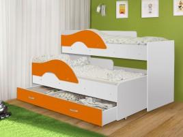 Кровать Матрешка-радуга ораньжевый