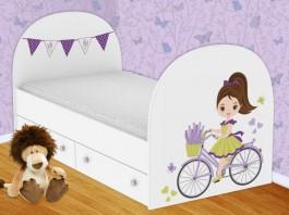 Велосипедистка Кроватка с ящиками