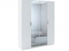 Тиффани М22 Шкаф с зеркалом  4-х дверный