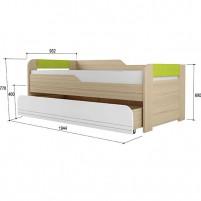Стиль-лайм №900.1 Кровать двухуровневая