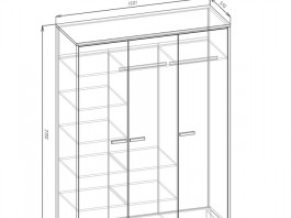 Карбон Ш3 шкаф 3-х створч.
