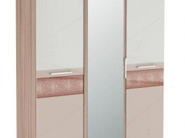 Розали 96.12 Шкаф трехдверный с зеркалом
