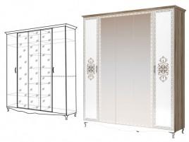 Династия 2 Шкаф-гармошка для одежды 5-ти дверный (с 3 зеркалами)