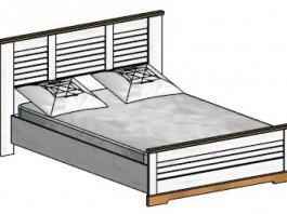 Кантри Каркас кровати 1800 мм.