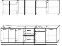 Кухня Акцент-Лофт-1 прямая 3000 мм.