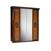 Карина 2 Шкаф 4-х дверный с зеркалом