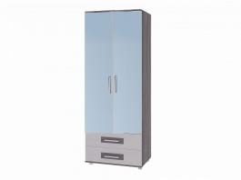 Вега М-5 Шкаф 2-х дверный с зеркалом