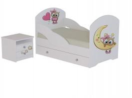 Кровать Сова с тумбой