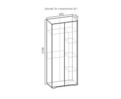 Оникс Ш2.45 шкаф 2-х створч.