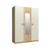 Анастасия АН-3К Шкаф 3-х дверный с зеркалом в центре
