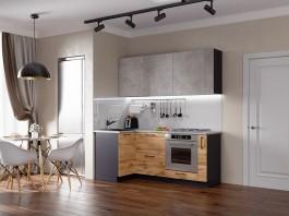 Кухня Акцент-Лофт-1 угловая 1000*1950 мм.