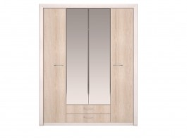 Мальта №11 Шкаф для одежды 4-х дв с зеркалом