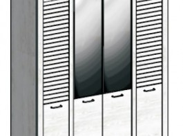 Кантри Шкаф 4-х дверный