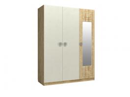 Анастасия АН-3К Шкаф 3-х дверный с зеркалом справа