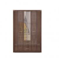 Париж №1 Шкаф для одежды с ящиками с зеркалом