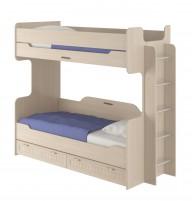 Соната ИД 01.164а Кровать 2-х ярусная 800 с настилом