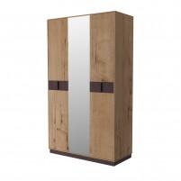 Бруно ИД 01.413 Шкаф 3-х дверный с зеркалом