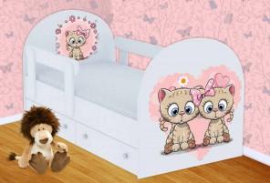 Котята Кроватка с ящиками и бортиками