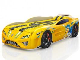 Dreamer Ёжик жёлтая Кровать-машина