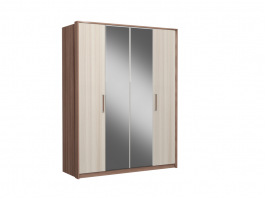 Реал-Люкс Шкаф 4-х створчатый с зеркалом