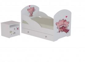 Кровать Котята с тумбой