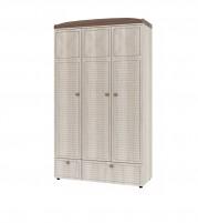 Калипсо ИД 01.386 Шкаф для одежды 3-х дв. с ящиками