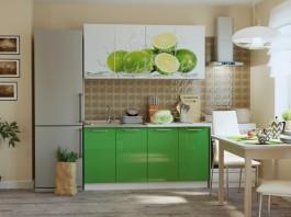 Кухня Лайм зеленый 1,6 м.