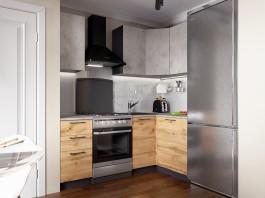 Кухня Акцент-Лофт-1 угловая 1400*1200 мм.