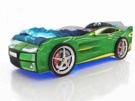 Kiddy Зелёная Кровать-машина