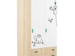 Кот №25 Шкаф 3-х створчатый