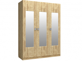 Анастасия АН-3К Шкаф 3-х дверный с зеркалом