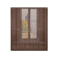 Париж №2 Шкаф для одежды с ящиками с зеркалом