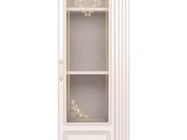 Виктория №32 Шкаф для белья со стеклом (Правый)
