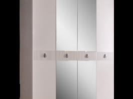 Rimini Solo Шкаф 4-х дв. (с зеркалами) для платья и белья РМШ1/4 (s)