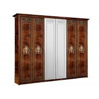 Карина 3 Шкаф 6-ти дверный с зеркалом