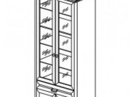 Янна ЯН-03 Шкаф для посуды с зеркалом