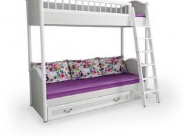 Классика Кровать двухъярусная с лестницей