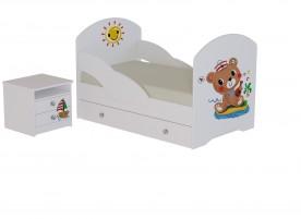 Кровать Мишка с тумбой
